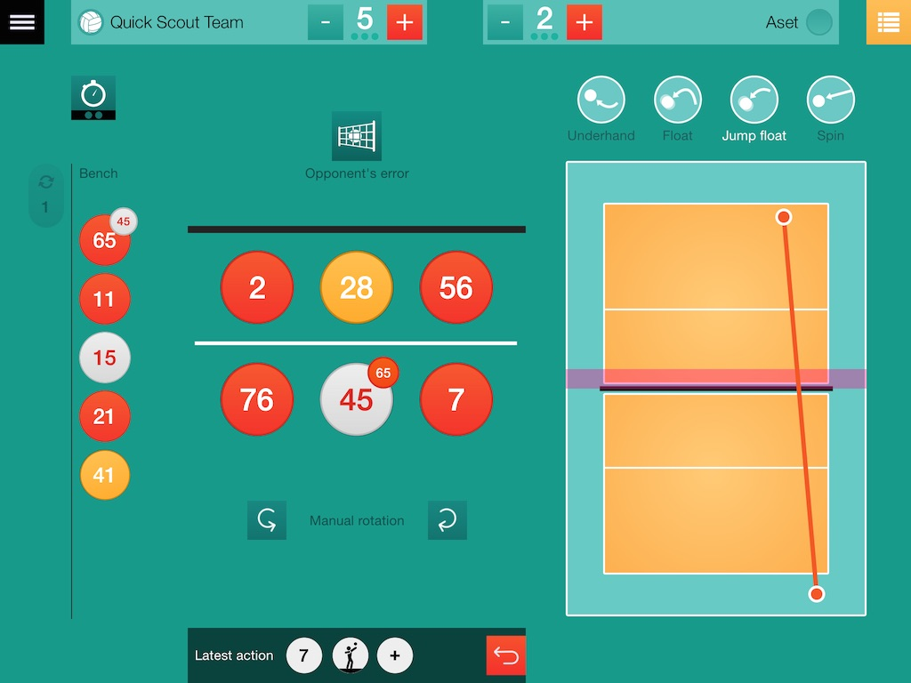 Quick Scout Volley for iPad, the app that makes volleyball
