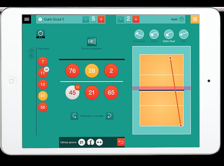 Quick Scout Volley - Osserva e migliora - iOs e Android App